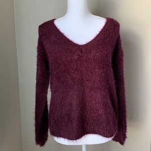 NWT - Fuzzy V-Neck Philosophy Sweater
